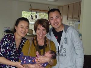 Judie Block with OLLI family photo