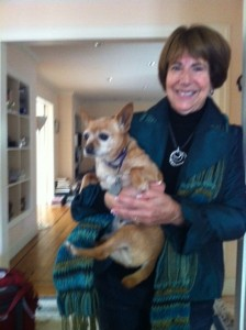 Judie Block with dog photo